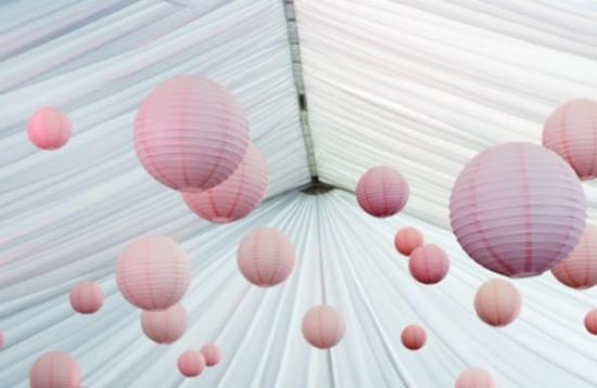 fabric globe lanterns