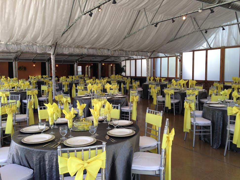 special event in a tent