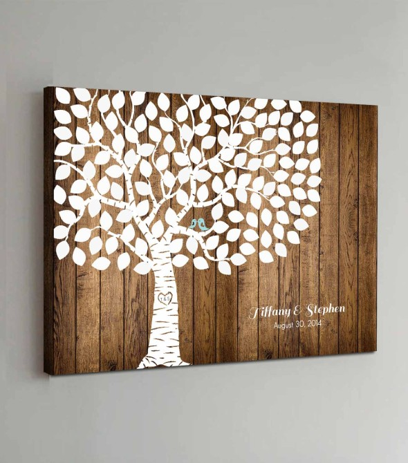 wedding guest book wall art