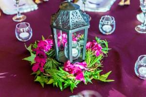 flower table arrangements, winter wedding, decorative ideas