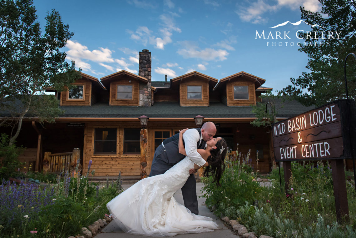 Wild Basin Lodge wedding photo